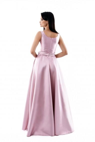 Rochie lunga de seara Lille Couture din tafta, Izabela, roz