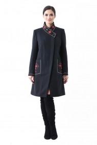 Palton Lille Couture tesatura bucle continut lana Maria Negru