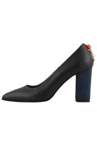 Pantofi cu toc Hotstepper Power Mad Blue Bleumarin