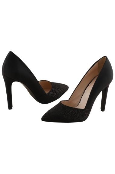 Pantofi cu toc Hotstepper Adore Black Letters Negru