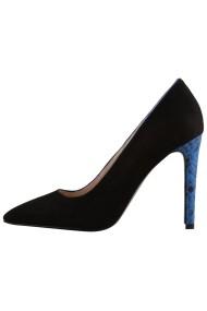 Pantofi cu toc Hotstepper Privilege Blue Tropical Negru