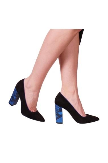 Pantofi cu toc Hotstepper Privilege Tropical Blue Negru