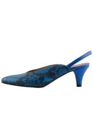 Pantofi cu toc Hotstepper Fancy Tropical Blue Animal Print