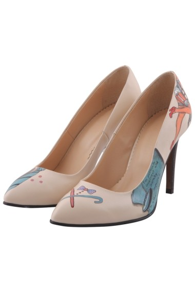 Pantofi cu toc Hotstepper Badass Print