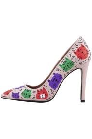 Pantofi cu toc Hotstepper The Super Clique Print