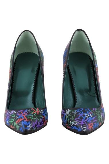 Pantofi cu toc Hotstepper Las Graphica Multicolor