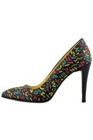 Pantofi cu toc Hotstepper Non Fiction Print
