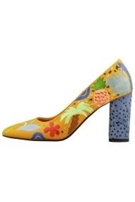 Pantofi cu toc Hotstepper Polynesia Print