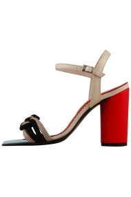 Sandale cu toc Hotstepper Red Gardenia Multicolor