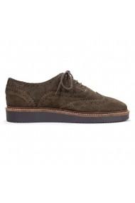 Pantofi Oxford Nappo din piele intoarsa Olive
