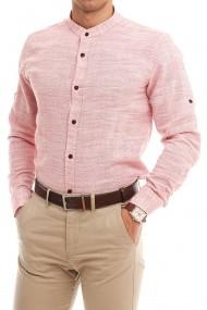 Camasa ESPADA MEN`S WEAR de in slim fit roz, guler tunica