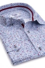 Camasa ESPADA MEN`S WEAR casual slim fit albastra cu imprimeu albastru-rosu