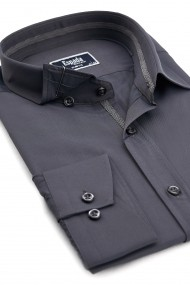 Camasa ESPADA MEN`S WEAR eleganta slim fit uni gri inchis