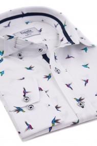Camasa ESPADA MEN`S WEAR casual slim fit print pasari colibri
