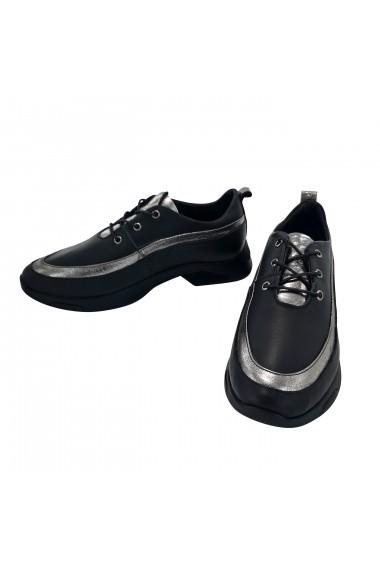 Pantofi sport casual din piele Torino 089 Negri