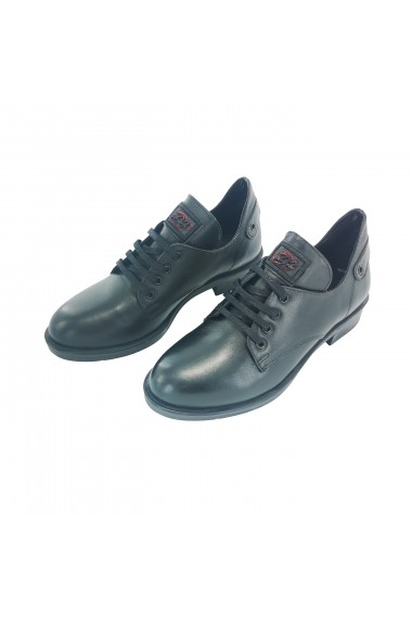 Pantofi din piele Torino 0217 Negri