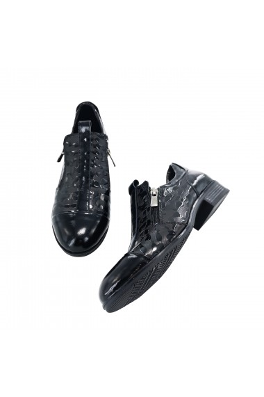 Pantofi din piele Torino 6223 Negri