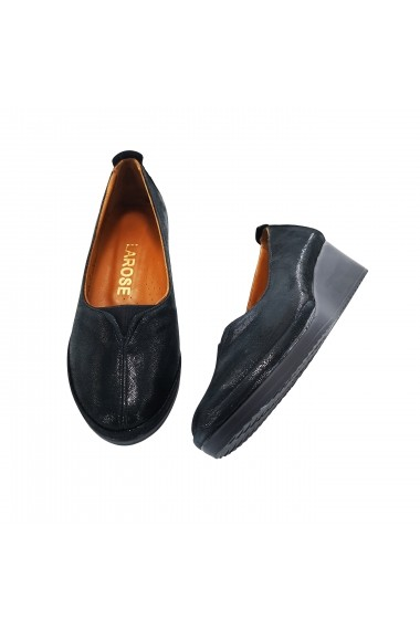 Pantofi cu platforma din piele Torino 2501 Negri