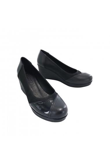 Pantofi cu platforma din piele Torino 407 Negri