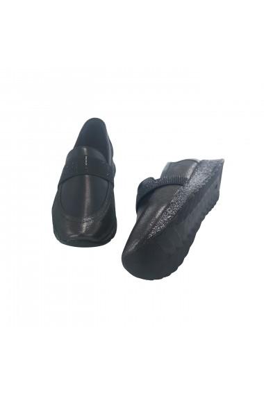 Pantofi sport casual din piele Torino 76101 Negri