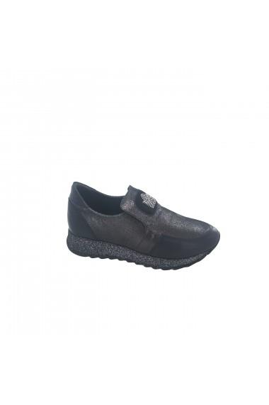 Pantofi sport casual din piele Torino 762 Negri