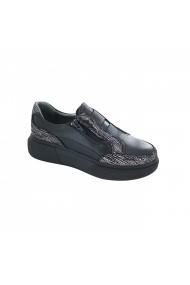 Pantofi sport casual din piele Torino 022 Negri