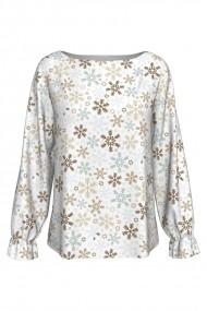 Bluza imprimata Jolly Snowflakes A842C8