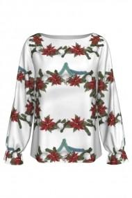 Bluza Dames imprimata Poinsettia A842C10