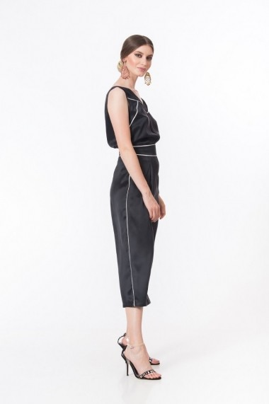 Pantaloni trei sferturi Dames tip culotte din matase DP032
