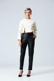 Pantaloni drepti casual PREMIUM din imitatie de piele DP068