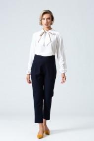 Pantaloni drepti office PREMIUM cu plii DP054