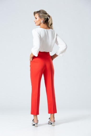 Pantaloni drepti Dames DP090R Rosu