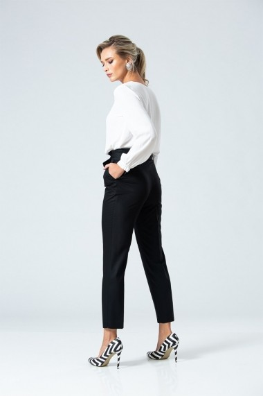 Pantaloni eleganti cu pliuri Dames DP090N Negri