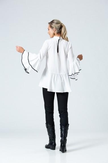 Bluza eleganta PREMIUM cu volane DP051
