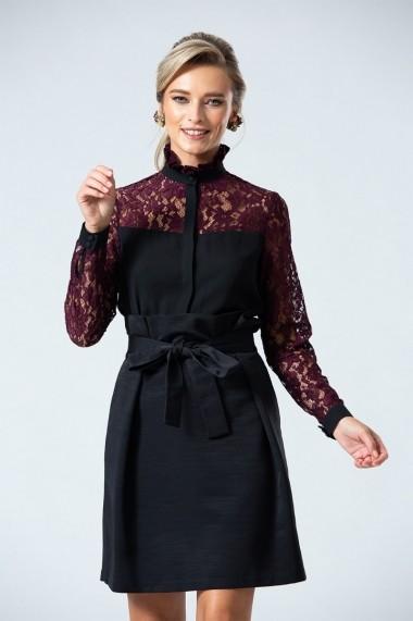 Bluza eleganta PREMIUM cu maneci din dantela DP056