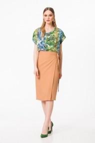 Bluza casual cu imprimeu tropical verde S215F