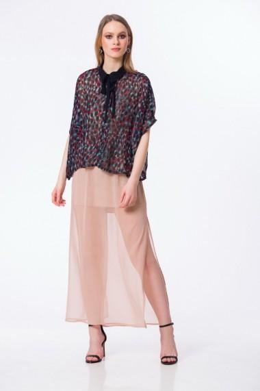 Bluza eleganta tip poncho multicolor M125M