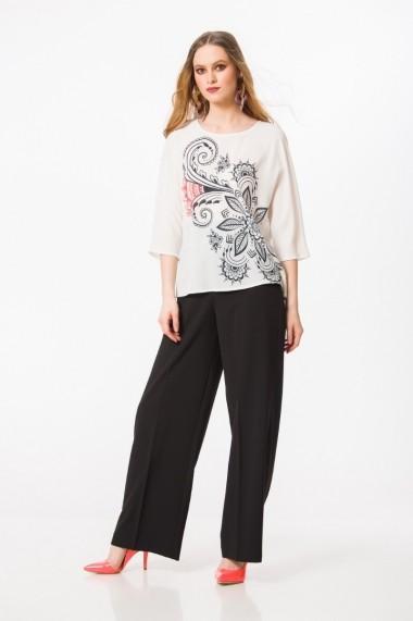 Bluza casual florala cu maneca raglan M1096