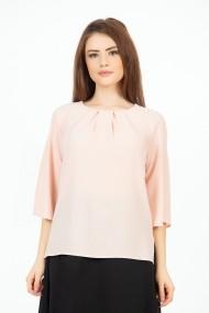 Bluza eleganta roz cu plii M1085R