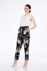 Pantaloni Dames M754AB Bleumarin