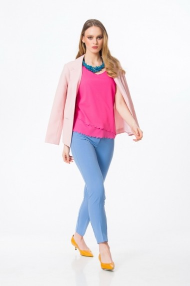 Bluza asimetrica roz A704R