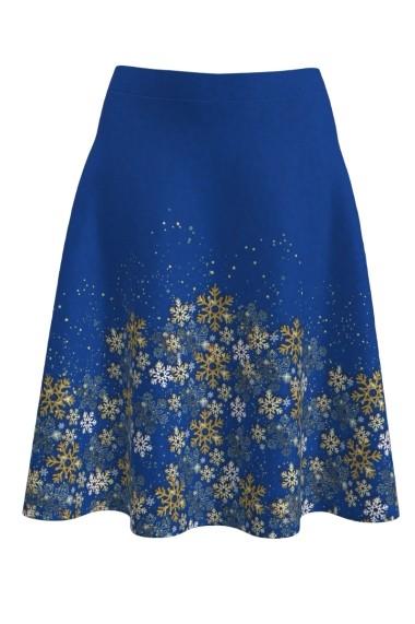 Fusta clos albastra imprimata SNOW STARS A817C13