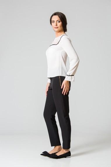 Pantaloni office cu fermoar lateral M933FR