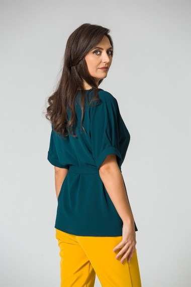 Bluza Dames casual cu maneci raglan si cordon in talie DM100