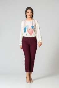 Pantalon casual Bordo M1148B