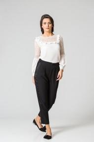 Pantalon elegant cu vipusca satinata C481N