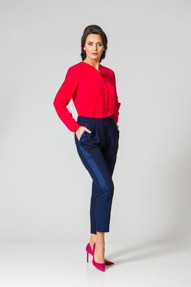 Pantalon elegant cu vipusca satinata C481B