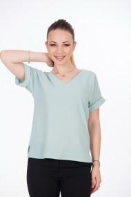 Bluză office vernil cu mâneci raglan A857A
