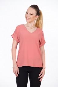 Bluză office roz pudră cu mâneci raglan A857R