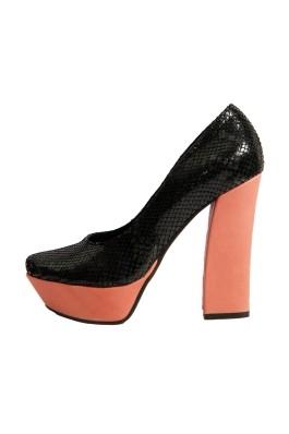 Pantofi cu toc cu toc cu toc Alive Black Forest HS426-stk - els